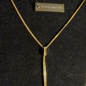 Vince Camuto Y bar rhinestone necklace  new